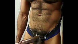 Black hairy Muscle Chest
