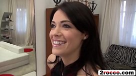 Beautiful petite brunette fly to Budapest for Rocco'_s big cock POV