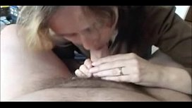 Horny Grandma POV Blowjob and swallow