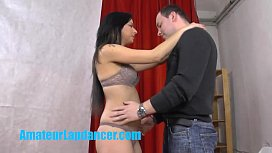 yo bo ell teases a horny stranger with lapdance