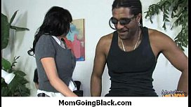 Black dong stuffed in my moms pussy 1
