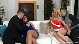 Two Swinger Couples Group Sex