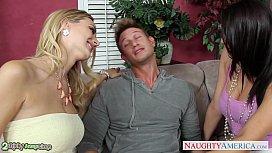 Bisexual Natalia Starr fuck in threesome