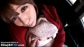 Japanese babe has wild sex during her trip