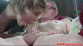Young Adam hooker cumswaps with old guy