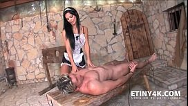 Forced cunillingus and blowjob dirty maid