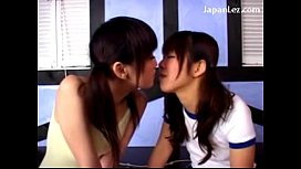 2 Young Schoolgirls In Training Dress Kissing Sticking Vibrators To Their Pussies One Girl Riding On