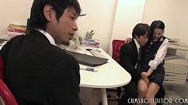 Young Japanese Office Slut Enjoyed