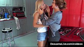 Texas Cougar Deauxma Pays Busty Mechanic Brooke Tyler w Sex!