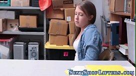 Shoplifting teen creamed