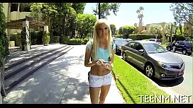Hawt legal age teenager halle von is using her mouth