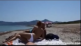Nude beach sucking cock in public in front of people