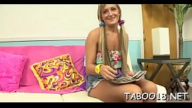 Cute kitty Nikki Blake fanny plowing session