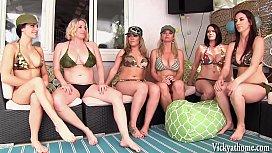 Vicky Vette's 6 Girl Lesbian Orgy!
