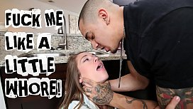 ABUSE ME - Young Teen Kirsten Lee Asks Her Boyfriend Bruno Dickemz To Fuck Her Hard