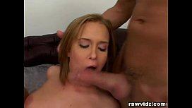 Slutty Blonde Gets Rough Threesome DP Banging