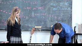 InnocentHigh Cute Redhead fucks her teacher