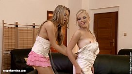 Sexy lesbian fingering with Rene and Nessy from Sapphic Erotica