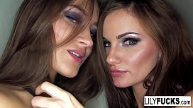 Dressed In Black Lingerie Lily And Dani Daniels Get To Play With Each Other