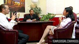 Team Fucks Girl - Desperate Asian MILF Lucky Starr Gangbanged for a Raise