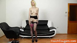 Slender shaven hole mama Nelly first time movie
