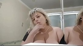 Big boobs play. Pussy is horny