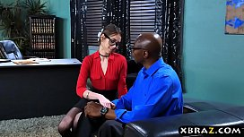 Psychiatrist Riley Reid helps out her big dick patient