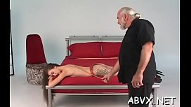 Naked babes roughly playing in bondage xxx non-professional video