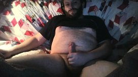 High AF stroking my hard cock while chatting with chaturbate model yourkat untill I blow