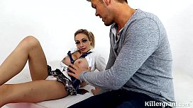 Blonde Big boobs Chessie Kay is a naughty schoolgirl in need of hard cock