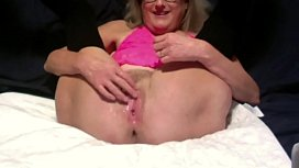 Horny Wife Dildos Wet Pussy Anal Beads Inserted