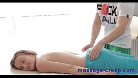 Perfect massage oil blonde blowjob