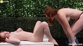 (Creampie) Two Natural Redheads Fuck The Same Guy xxx video