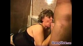 Horny Granny Having Sex In THe Bathroom