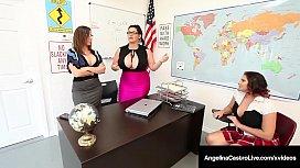 Professors Angelina Castro &amp_ Sara Jay Bang Pupil Gia Love!