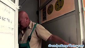 Sweet teen asslicked and fucked by grandpa