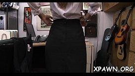 j. woman shows us how she has some sex in shop room