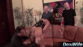 Mature wife fucks in front of husband