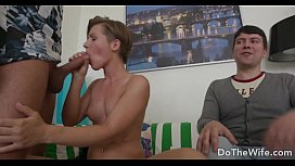25213465: Husband watches wife take a huge dick