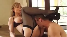 Mature lady fucks young guy