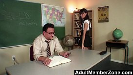Nau Nadia fucking her teacher to get out of trouble