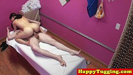 Asian masseuse tugging client pon hub