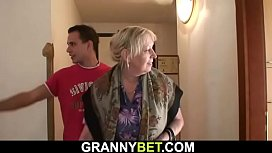 Granny games with big tits blonde woman