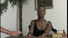 Ebony babe sucks and fucks several white dudes 15