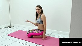 Nude Yoga? Yes! Kimber Lee Gives Hot JOI While Stretching!