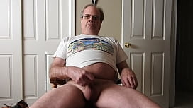 A daddy masturbating and cumming.