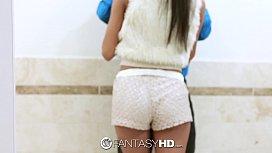 Fanta Chloe Amour has sex with a stranger in a public bathroom