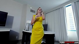 Hot slut MILF stepmom needs to do this with her boy