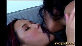 Horny asian lesbians fucking