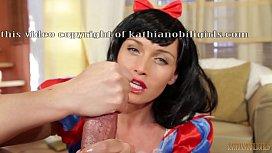 I'll eat all your warm seed...Snow White oily HANDJOB on big dick! POV with Kathia Nobili - PART 2